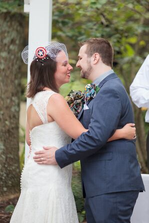 Intimate Moment Between Couple at Ceremony