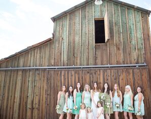 Various Green Bridesmaid Dresses