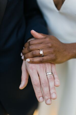Couple Holding Hands During Georgia Wedding