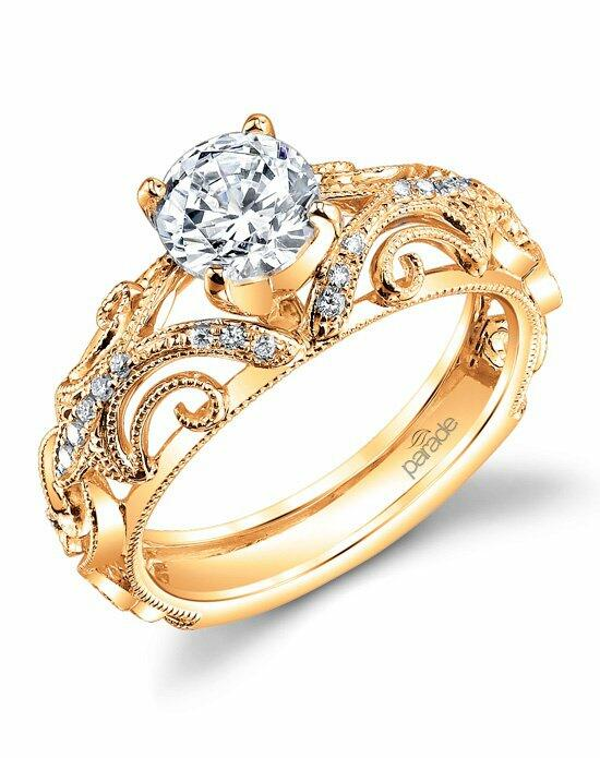 Parade Design Style R3072 from the Hera Collection Yellow Engagement Ring photo