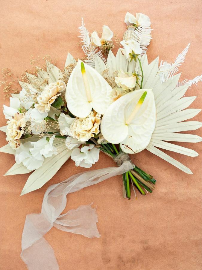 Boho bouquet with anthurium