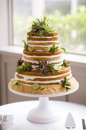 Succulent Key Lime Naked Cake