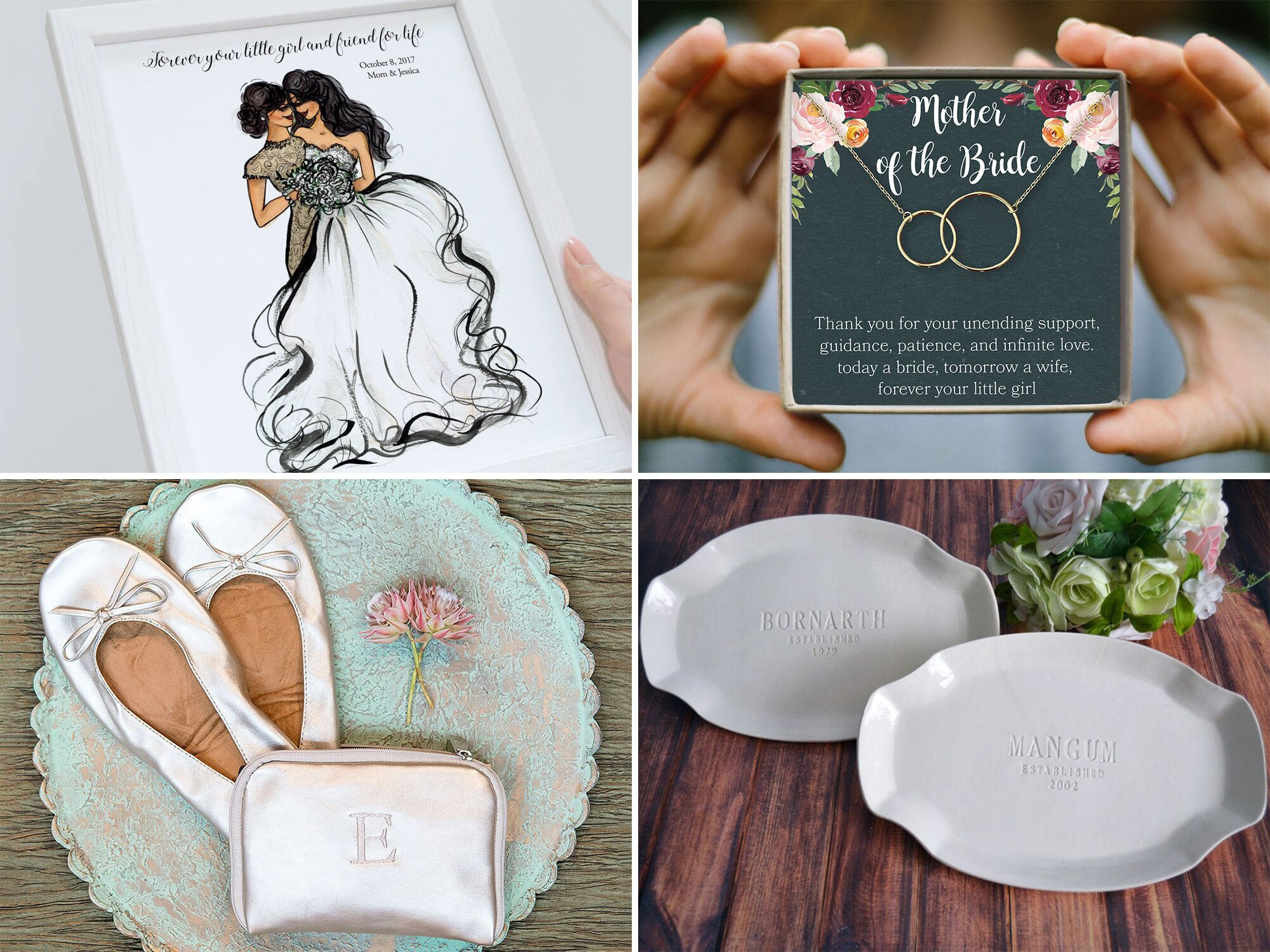 Mother of the Bride or Mother of the Groom  Thank you wedding gift