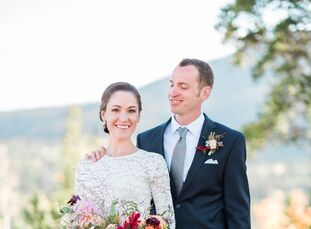 Isnaraissa (Sparky) Moir (30 and works in newspaper publishing) and Noah Spears (33 and a product manager at MRP Bike) wed on Noah's parents' property