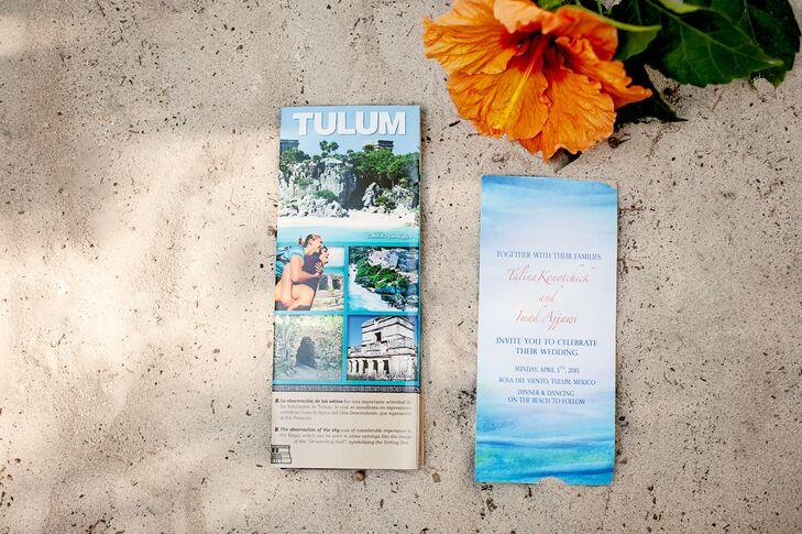 Destination Wedding Beach-Inspired Invitations