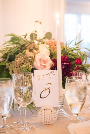 Nautical Knot Ball Table Number Holder