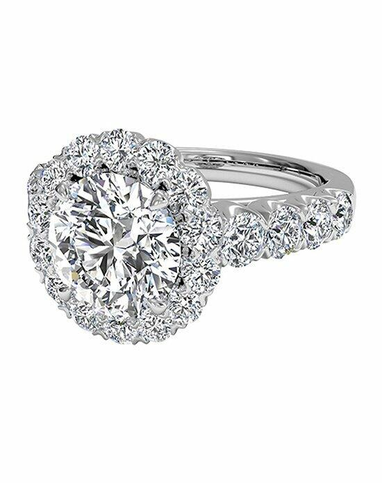 Ritani Masterwork Round Cut Halo Diamond Band Engagement Ring in 18kt White Gold (0.75 CTW) Engagement Ring photo