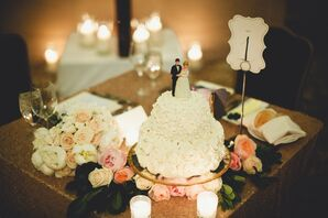 Timeless Bride and Groom Cake Toppers