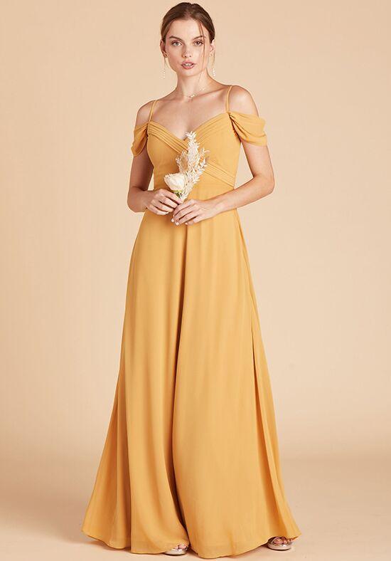 Birdy Grey Spence Convertible Dress in Marigold V-Neck Bridesmaid Dress