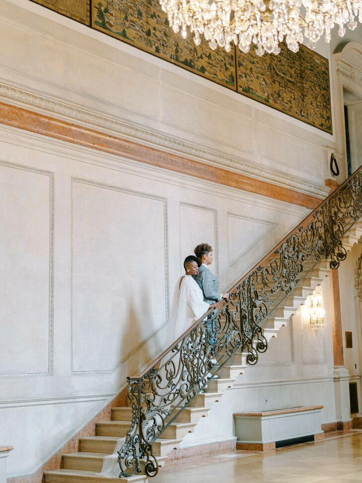 Wedding Portraits at Anderson House in Washington, D.C.