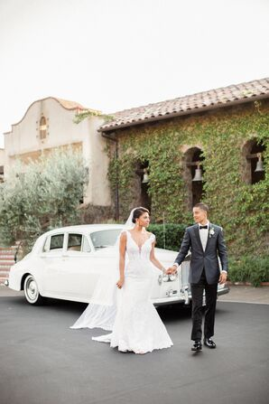 Classic Couple with Luxury Vintage Car