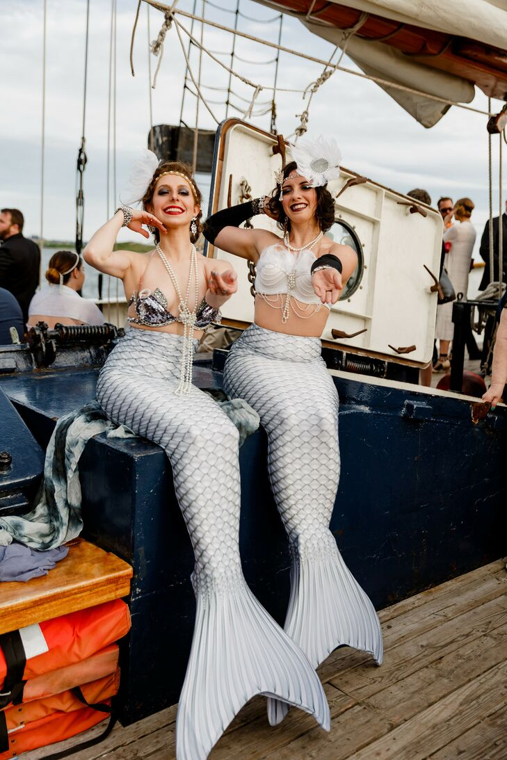 Mermaid Entertainment for Wedding on Governor's Island in New York