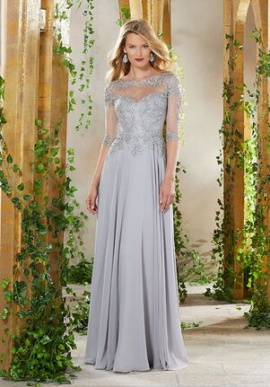MGNY 71908 Blue,Brown,Champagne,Gray,Silver Mother Of The Bride Dress
