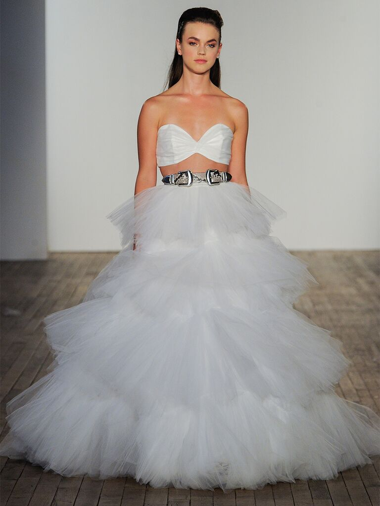 Tulle Two-Piece Wedding Dress