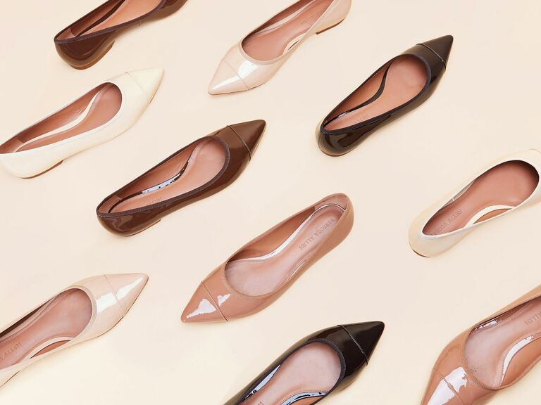 pointed toe nude flats