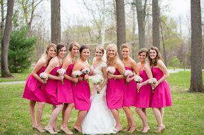 Berry Pink Bridesmaid Dresses