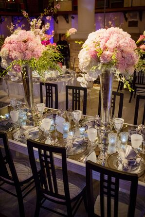 Pink Peony and Orchid Centerpieces