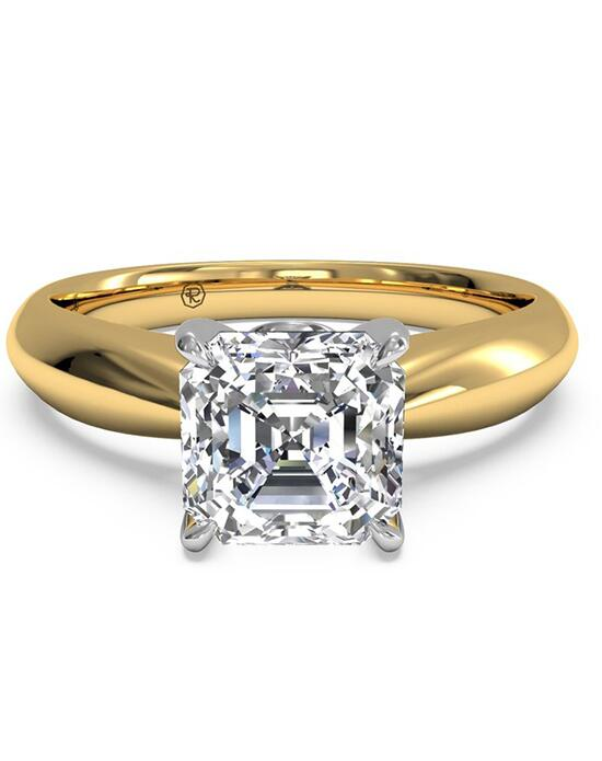 Ritani Solitaire Diamond Tapered Engagement Ring with Surprise Diamonds - in 18kt Yellow Gold (0.04 CTW) for a Asscher Center Stone Engagement Ring photo