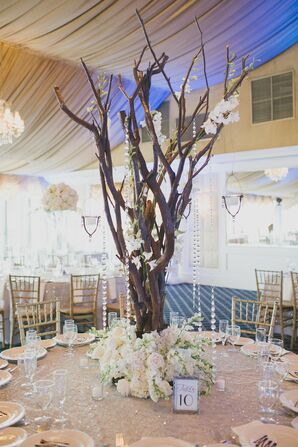 Crystal and Branch Centerpiece