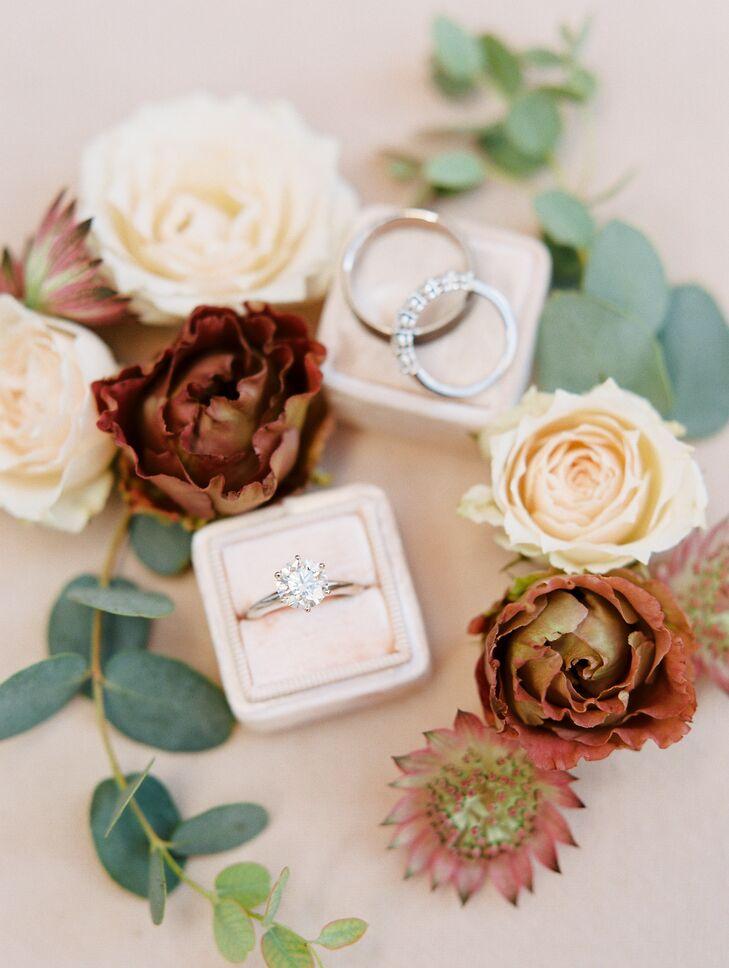 Engagement Ring in Blush Ring Box