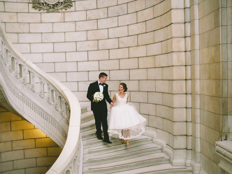 Ohio garden wedding at the Cleveland museum of art