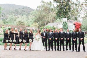 Black Wedding-Party Attire