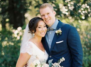 """For their spring nuptials, Amanda Opitz and Justin Reeves planned a romantic affair that drew inspiration from their home of Paris, France.<br><br>""""I"""