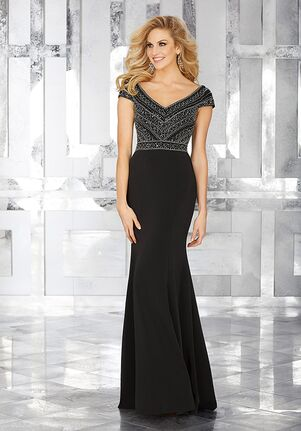 MGNY 71634 Black,Silver Mother Of The Bride Dress