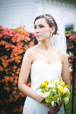 Embellished Bridal Tiara with Tulle Veil