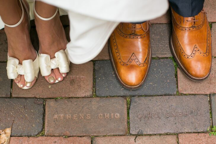 Ivory Bow Shoes, Brown Dress Shoes