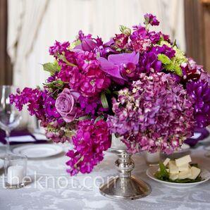Magenta Floral Centerpieces