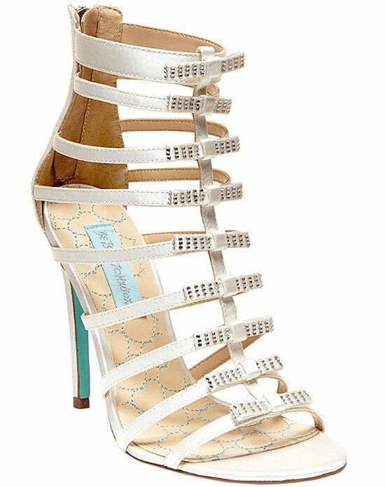 Blue by Betsey Johnson SB - Tie-Ivory Satin Wedding Shoes photo