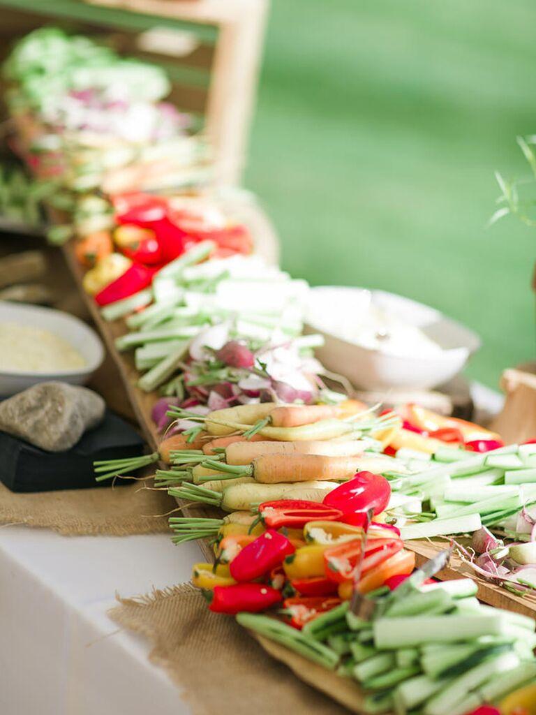 Veggie bar for an easy appetizer