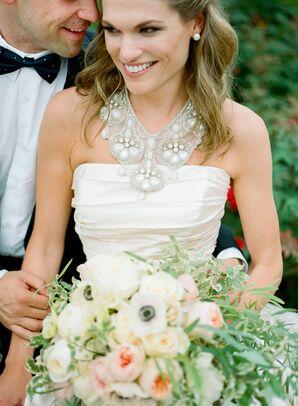 Lazaro Wedding Dress Statement Necklace
