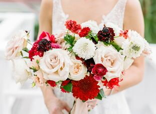"""In an effort to plan a wedding day that was uniquely their own, Meredith and Blair created, """"a mix of a lot of styles...just like the two of us"""" They"""