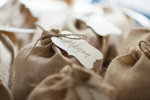 Favor Wrapped in Burlap