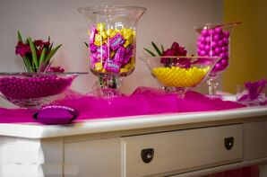 Hot Pink and Yellow Candy Bar