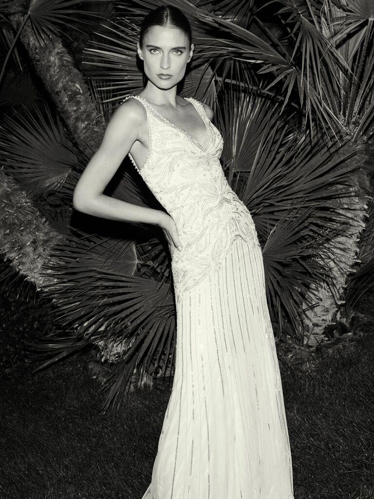 Jenny Packham sheath wedding dress