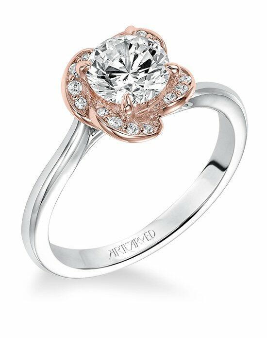 artcarved 31 v582err engagement ring the knot