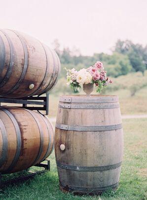 Vineyard Wine Barrel Outdoor Ceremony Decor