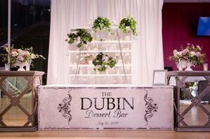 Modern Dessert Bar for Wedding Reception at The Chicago Art Institute