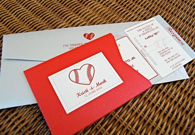 Baseball-Inspired Wedding Invitations | LEPENN Designs | Blog.theknot.com
