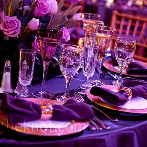 Purple and Gold Decor