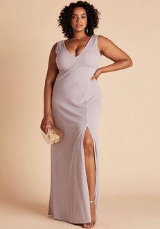 Birdy Grey Shamin Crepe Dress Curve in Lilac V-Neck Bridesmaid Dress
