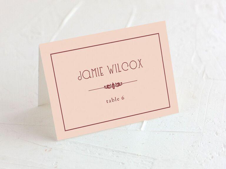 wedding place cards unique vintage card