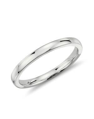 Blue Nile 25690 White Gold Wedding Ring