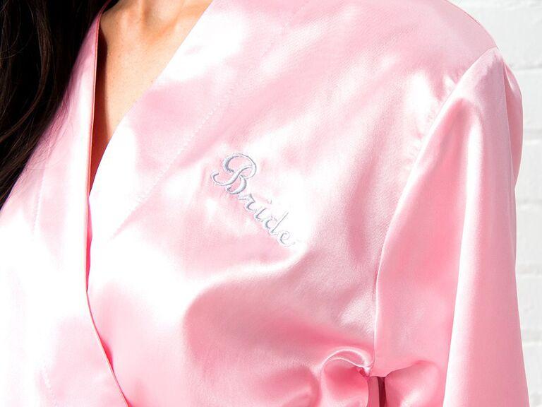 personalized silky kimono robe