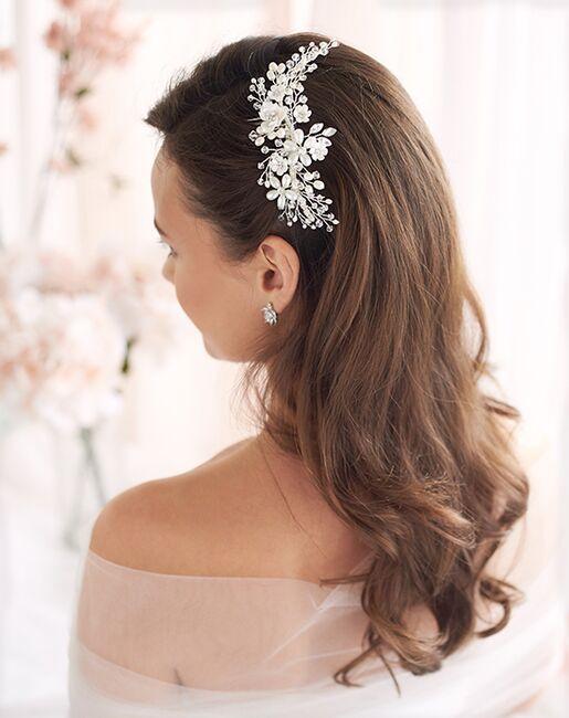 Dareth Colburn Pretty Bouquet Floral Comb (TC-2291) Silver Pins, Combs + Clip