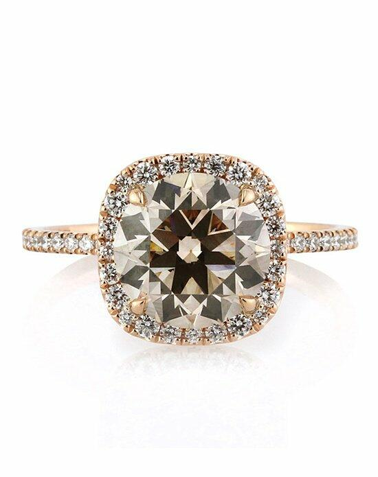 Mark Broumand 3.61ct Fancy Orange Brown Antique European Round Cut Diamond Engagement Ring Engagement Ring photo