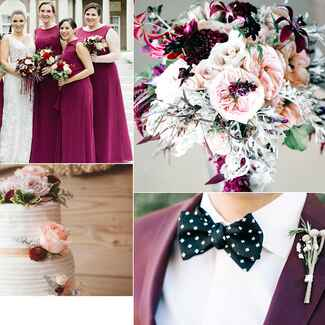 Fall wedding color combos